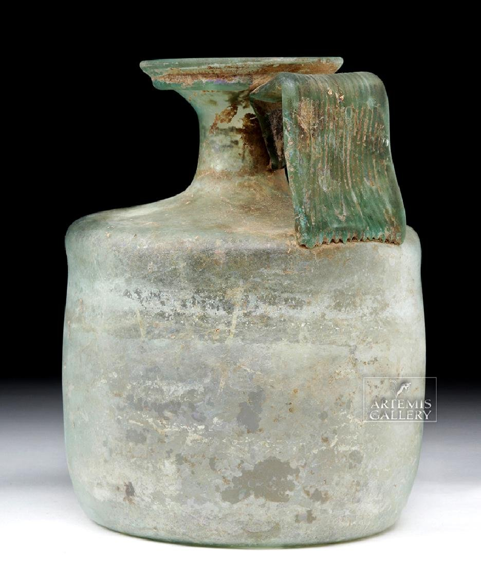 Large Roman Green Glass Jug - Probably Cologne - 5