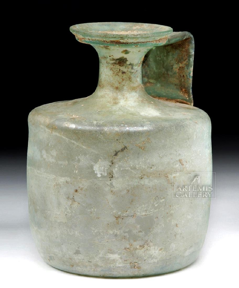 Large Roman Green Glass Jug - Probably Cologne - 6