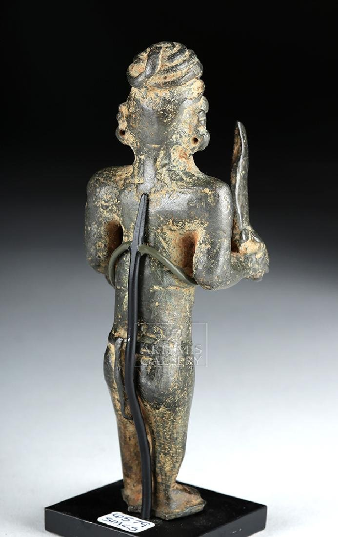 Bactrian Bronze Male Warrior w/ Sword and Shield - 4