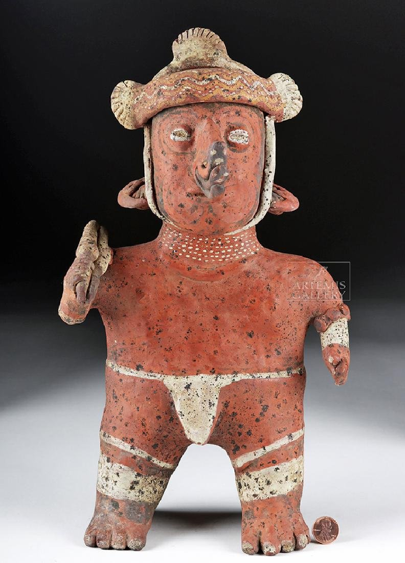 Nayarit Warrior with Atl Atl and Nose Ornament - 4