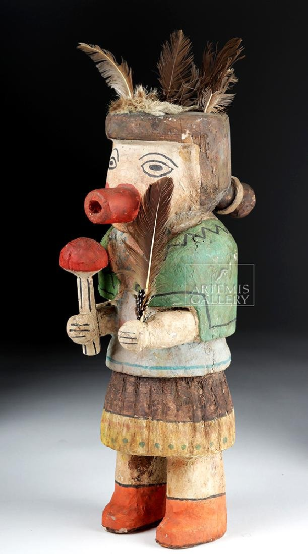 Early 20th C. Hopi Wooden Kachina Doll - Very Large