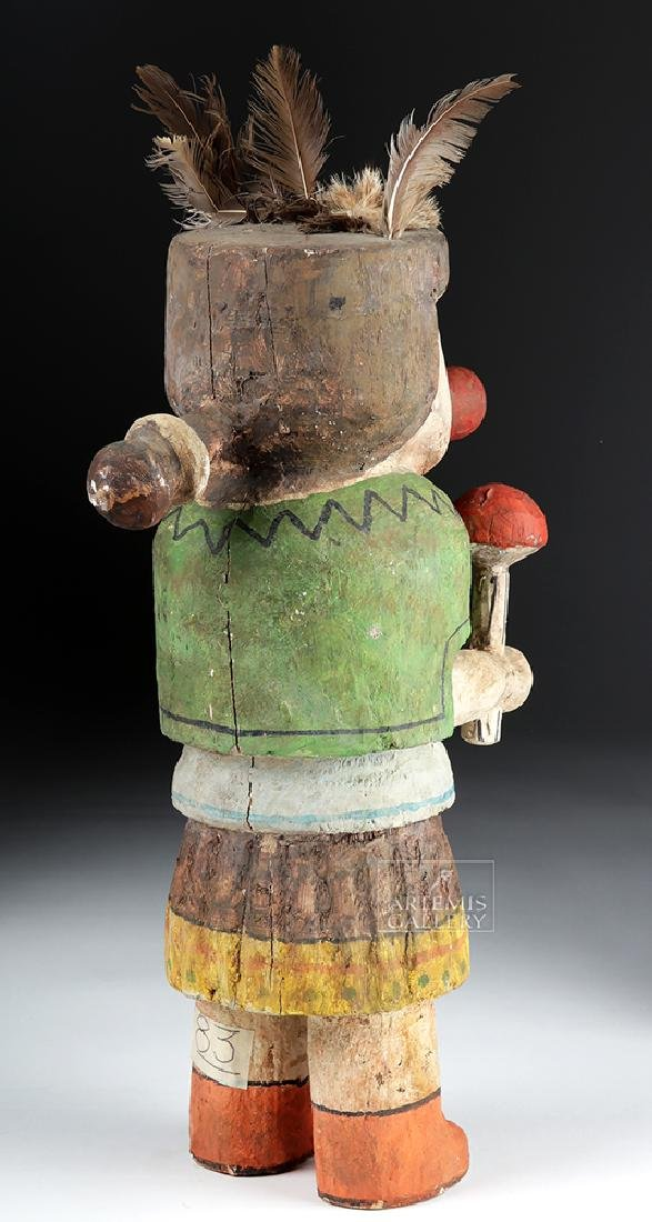 Early 20th C. Hopi Wooden Kachina Doll - Very Large - 5