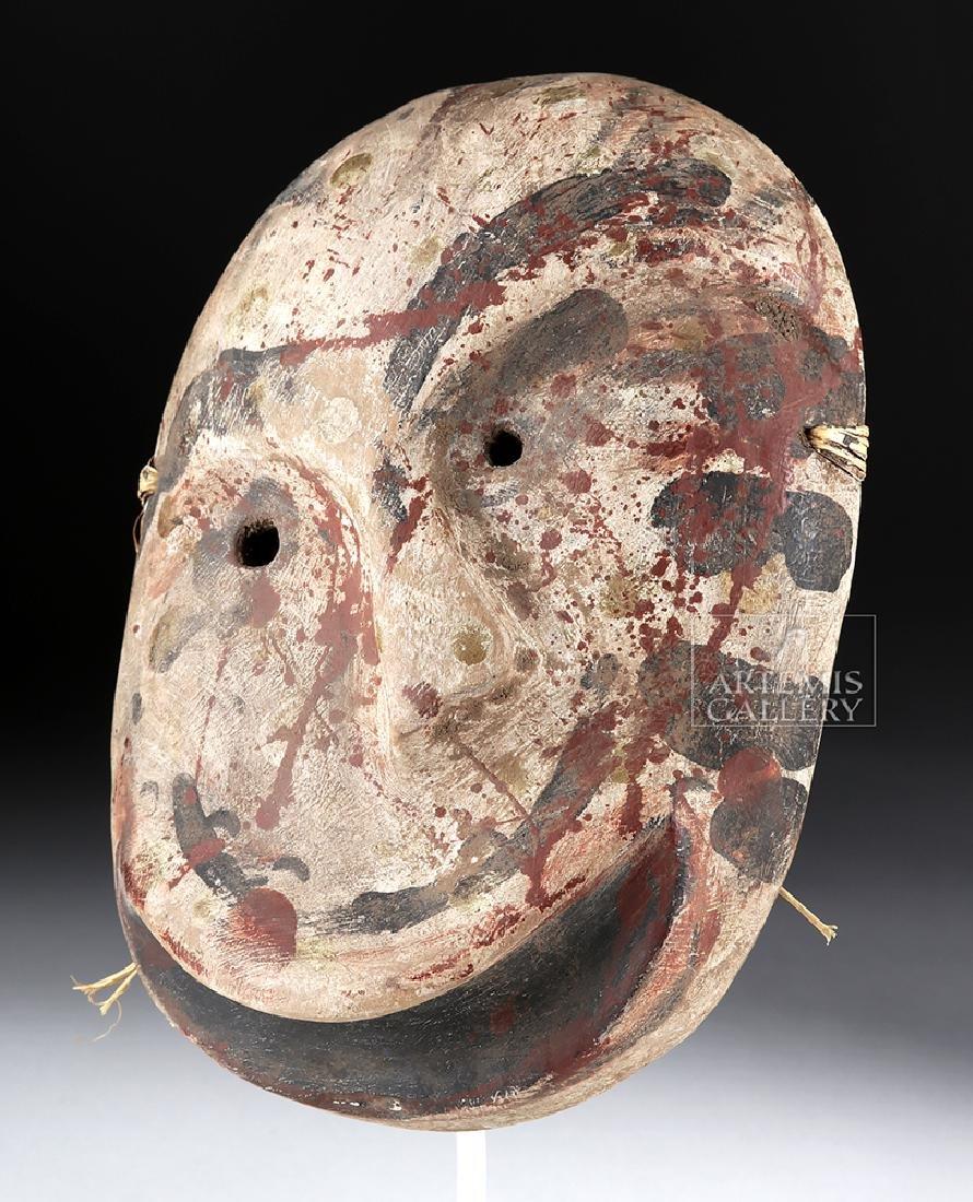 Early 20th C. Alaskan Eskimo Painted Wood Mask - 2