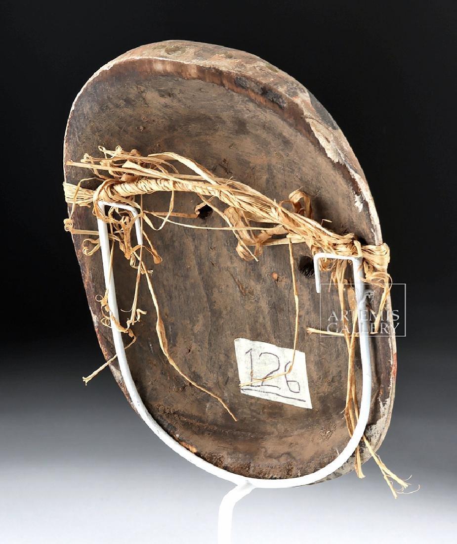 Early 20th C. Alaskan Eskimo Painted Wood Mask - 4
