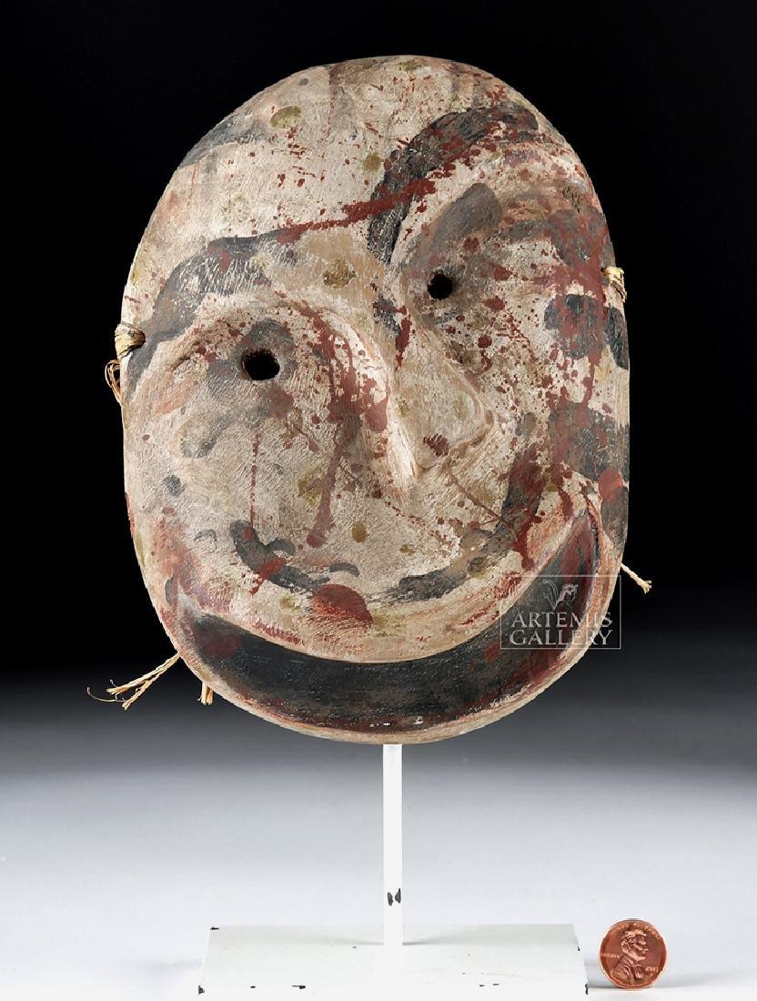 Early 20th C. Alaskan Eskimo Painted Wood Mask - 6