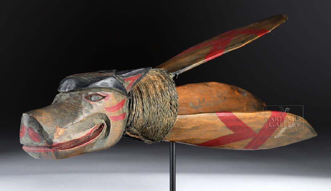 20th C. Pacific Northwest Wood Fishing Lure - 5