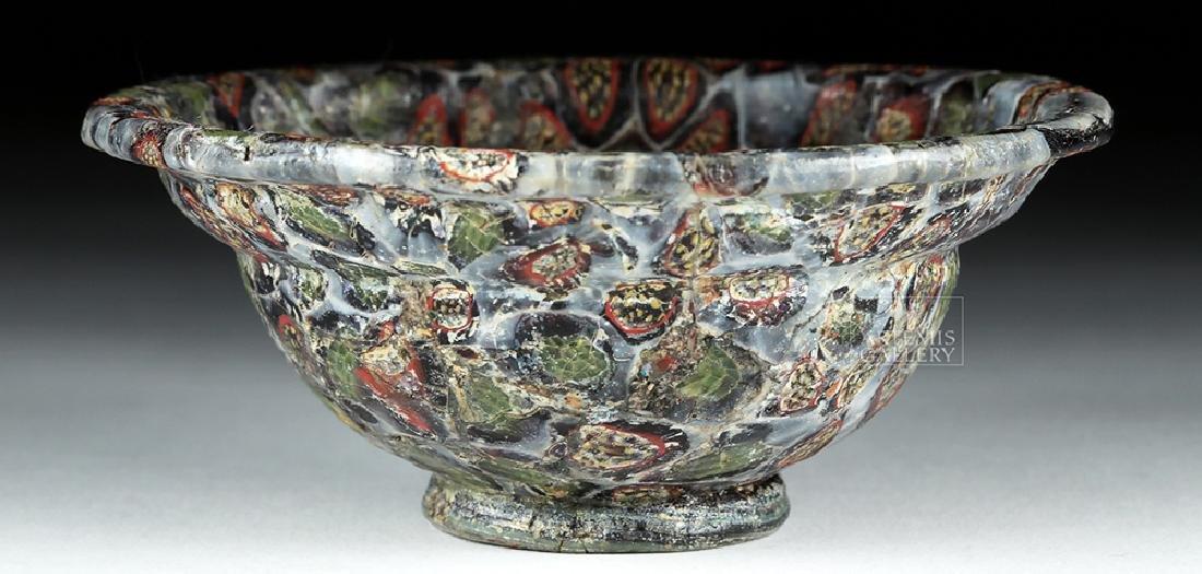Rare / Important Roman Mosaic Glass Patella Cup - 10