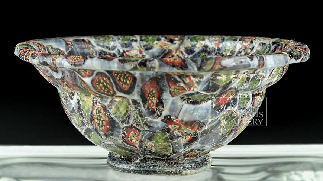 Rare / Important Roman Mosaic Glass Patella Cup