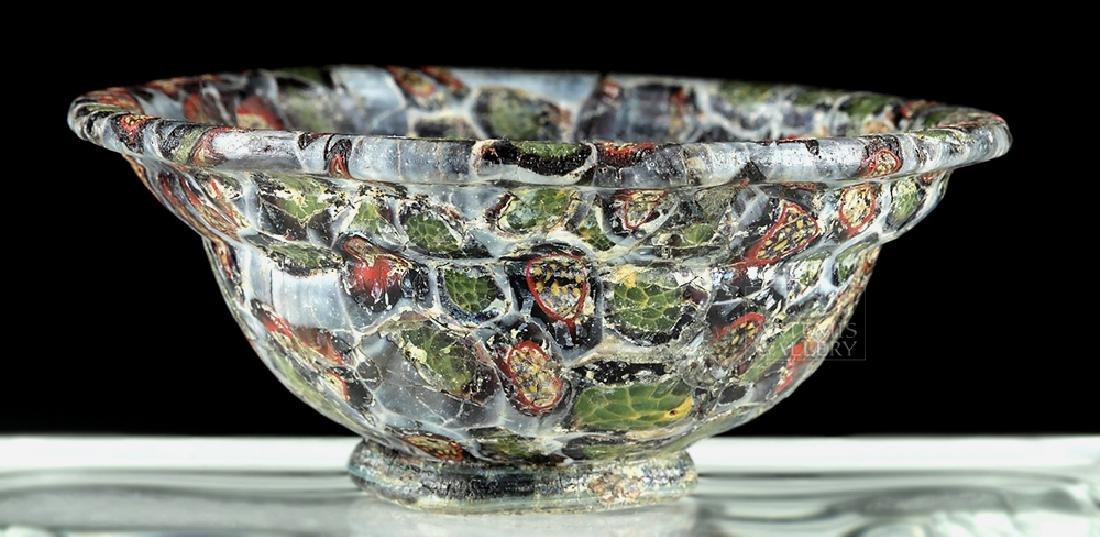 Rare / Important Roman Mosaic Glass Patella Cup - 2