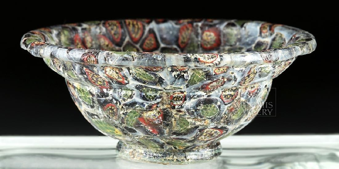 Rare / Important Roman Mosaic Glass Patella Cup - 3