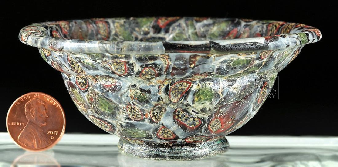 Rare / Important Roman Mosaic Glass Patella Cup - 4