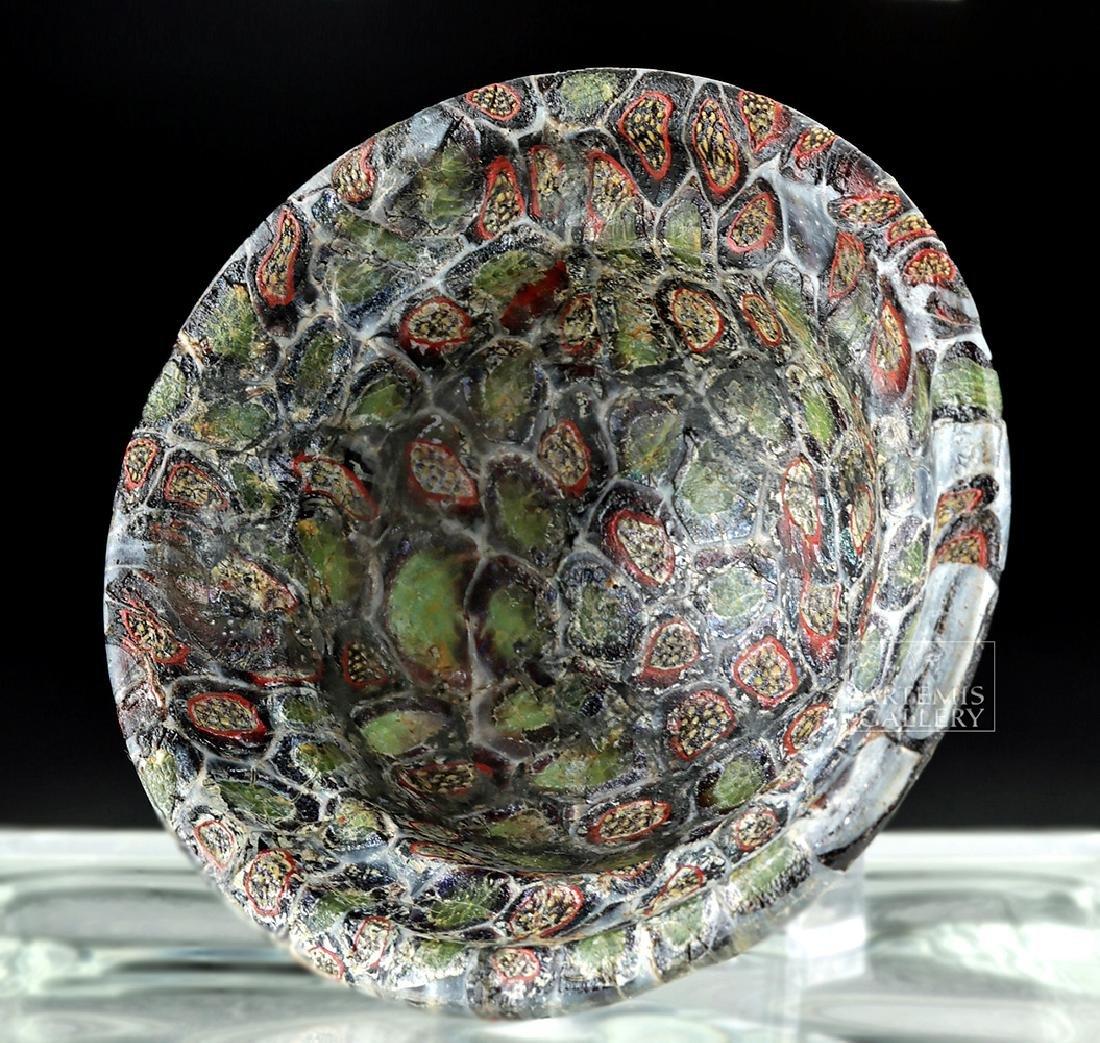Rare / Important Roman Mosaic Glass Patella Cup - 5