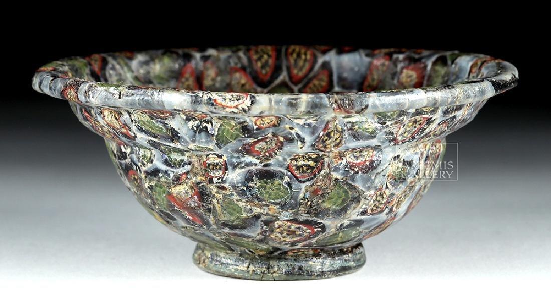 Rare / Important Roman Mosaic Glass Patella Cup - 7