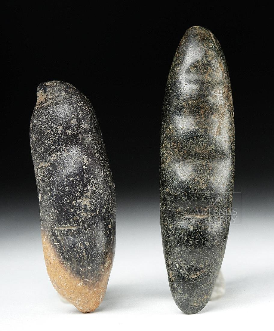 Pair of Chavin Carved Stone Hallucinogenic Seed Pods