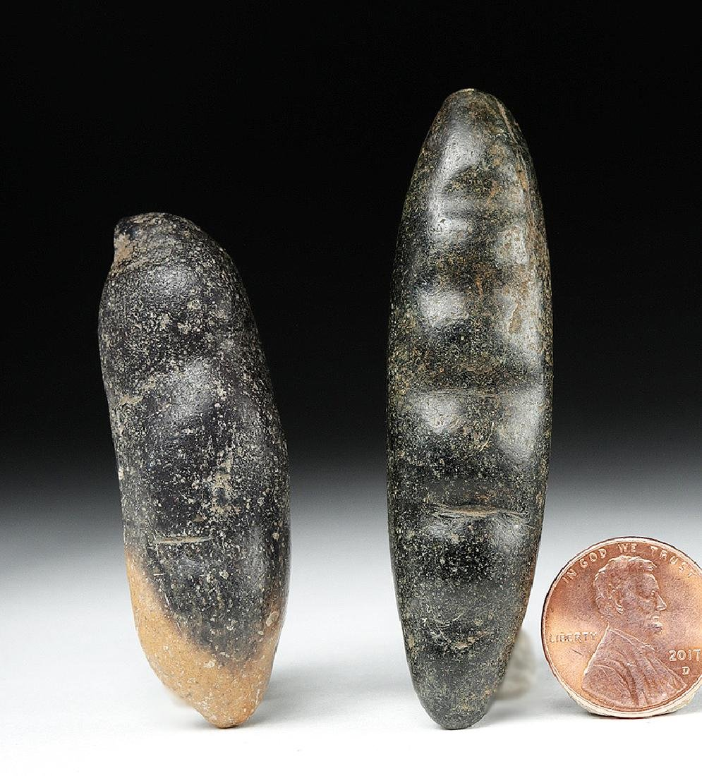 Pair of Chavin Carved Stone Hallucinogenic Seed Pods - 2
