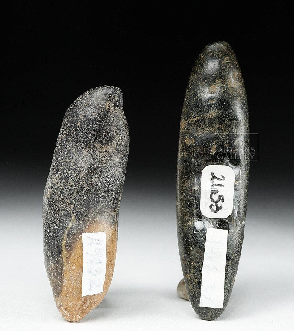Pair of Chavin Carved Stone Hallucinogenic Seed Pods - 4