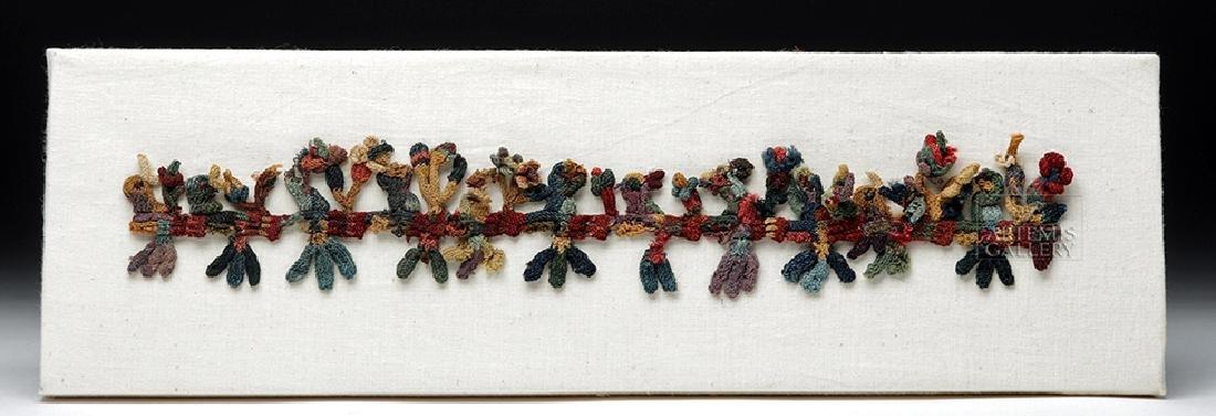 Rare Proto-Nazca Textile Muneca Fringe Birds