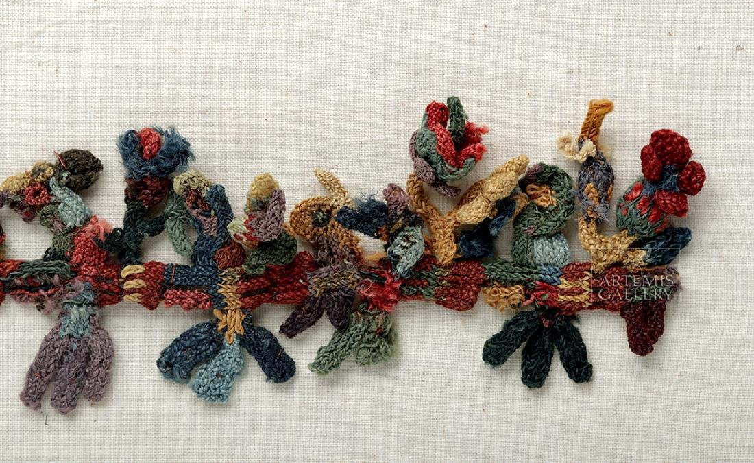 Rare Proto-Nazca Textile Muneca Fringe Birds - 2