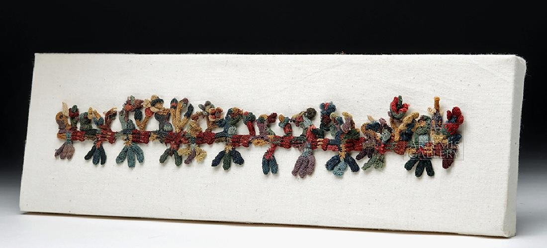 Rare Proto-Nazca Textile Muneca Fringe Birds - 3