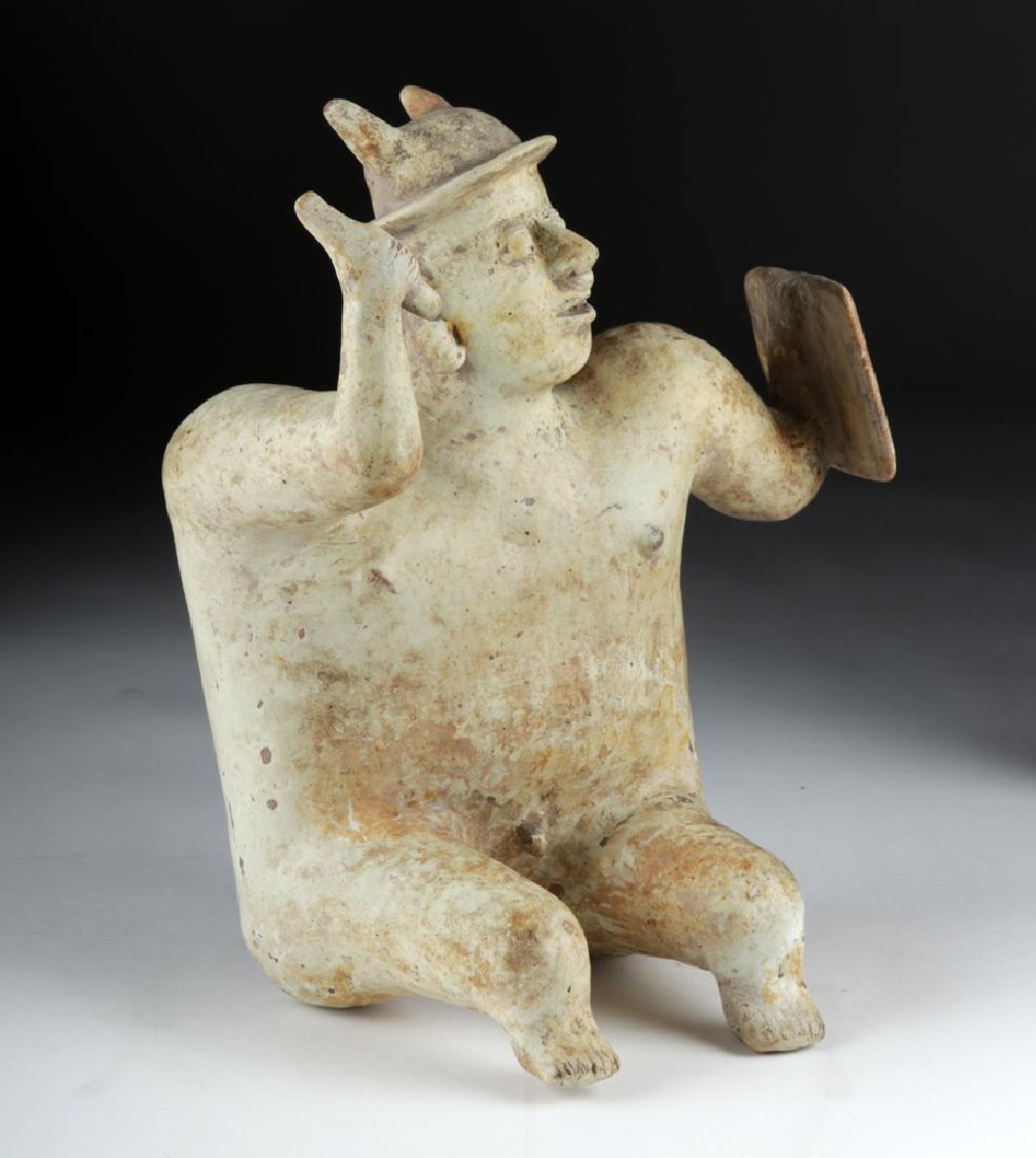 Jalisco Pottery Warrior Figure w/ White Kaolin Pigment - 3