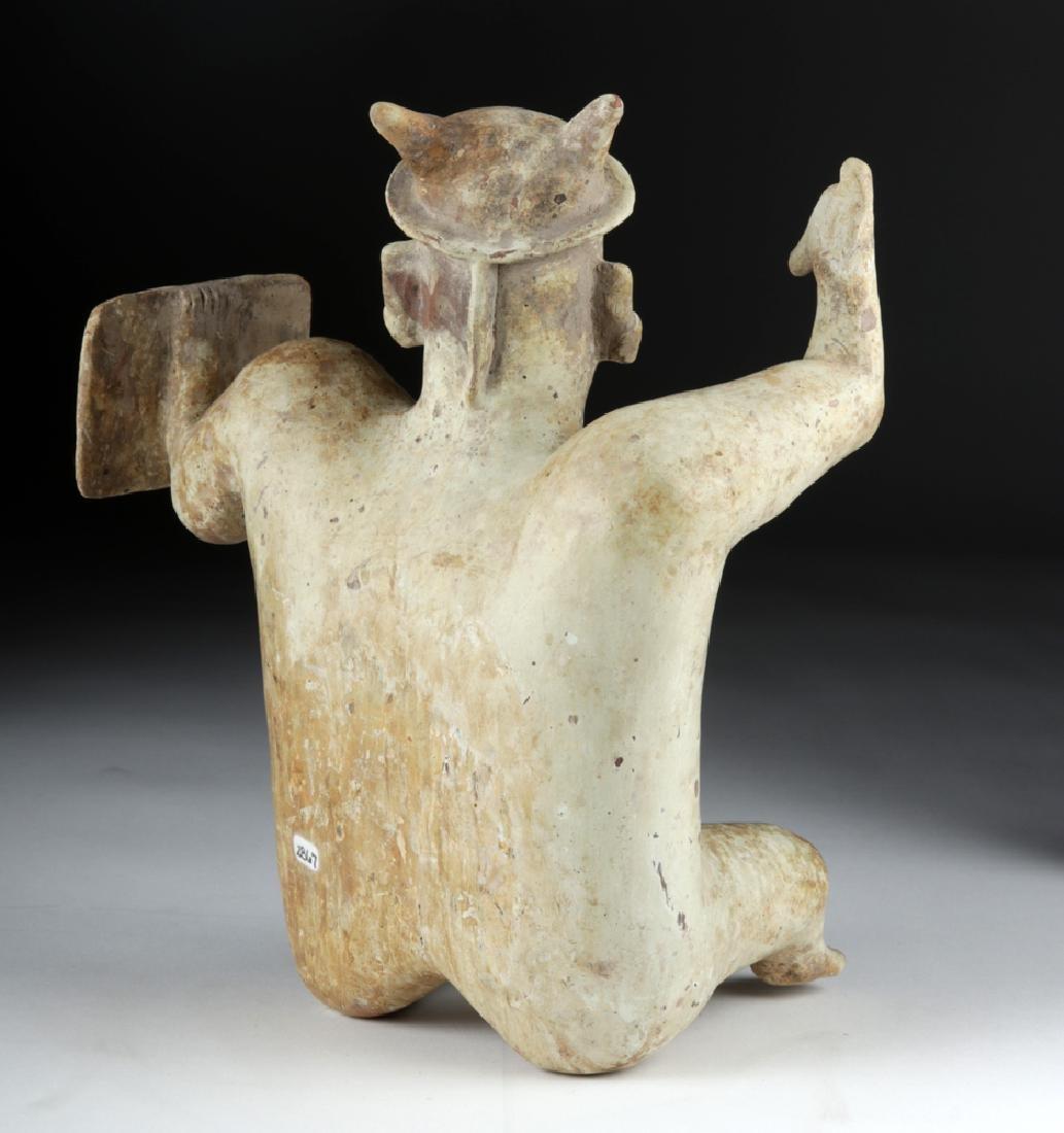 Jalisco Pottery Warrior Figure w/ White Kaolin Pigment - 5