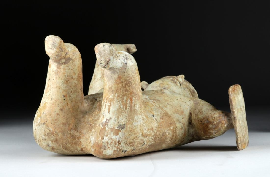 Jalisco Pottery Warrior Figure w/ White Kaolin Pigment - 7