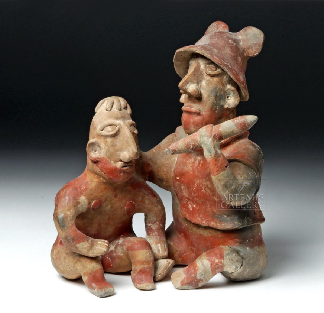 Rare Jalisco Pottery Warrior w/ Captive