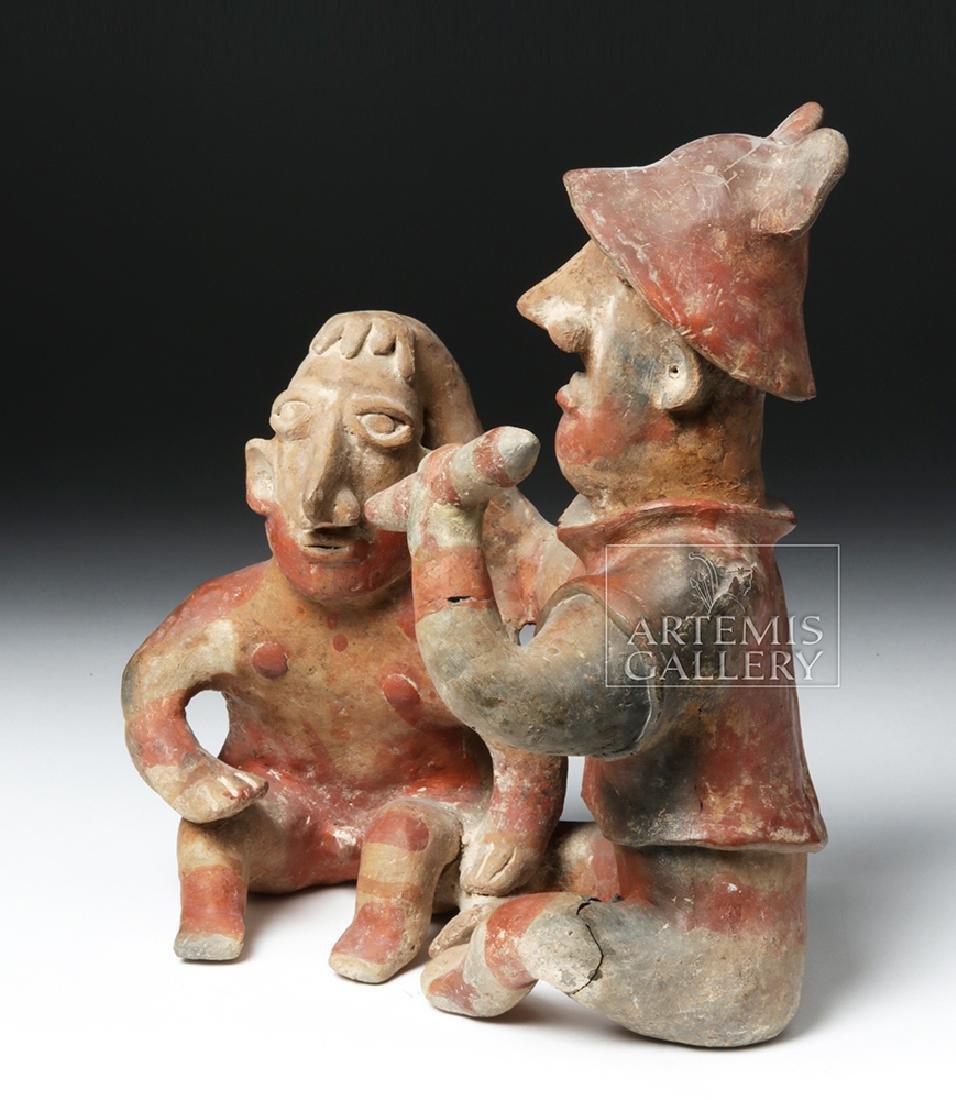 Rare Jalisco Pottery Warrior w/ Captive - 2