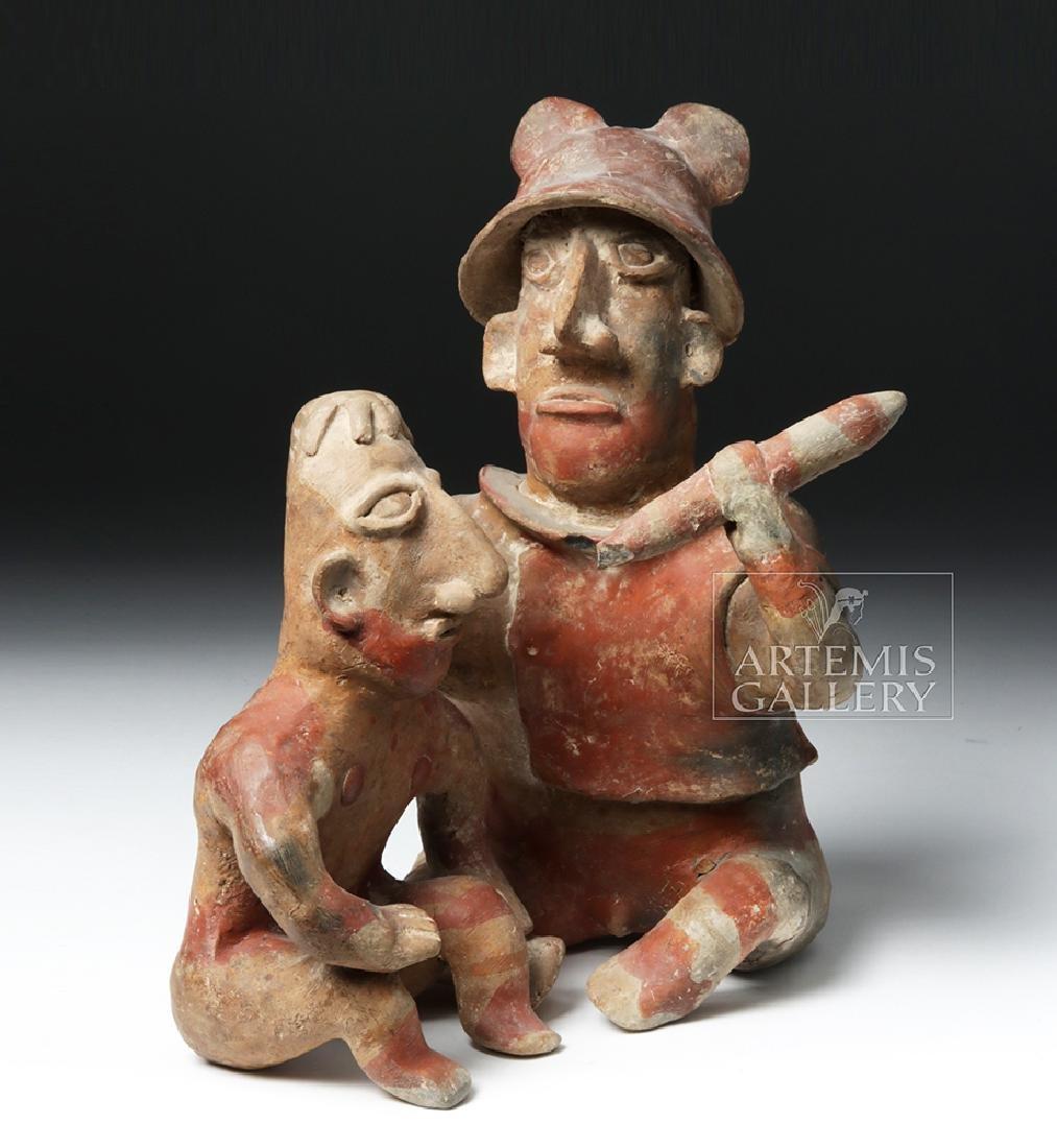 Rare Jalisco Pottery Warrior w/ Captive - 5