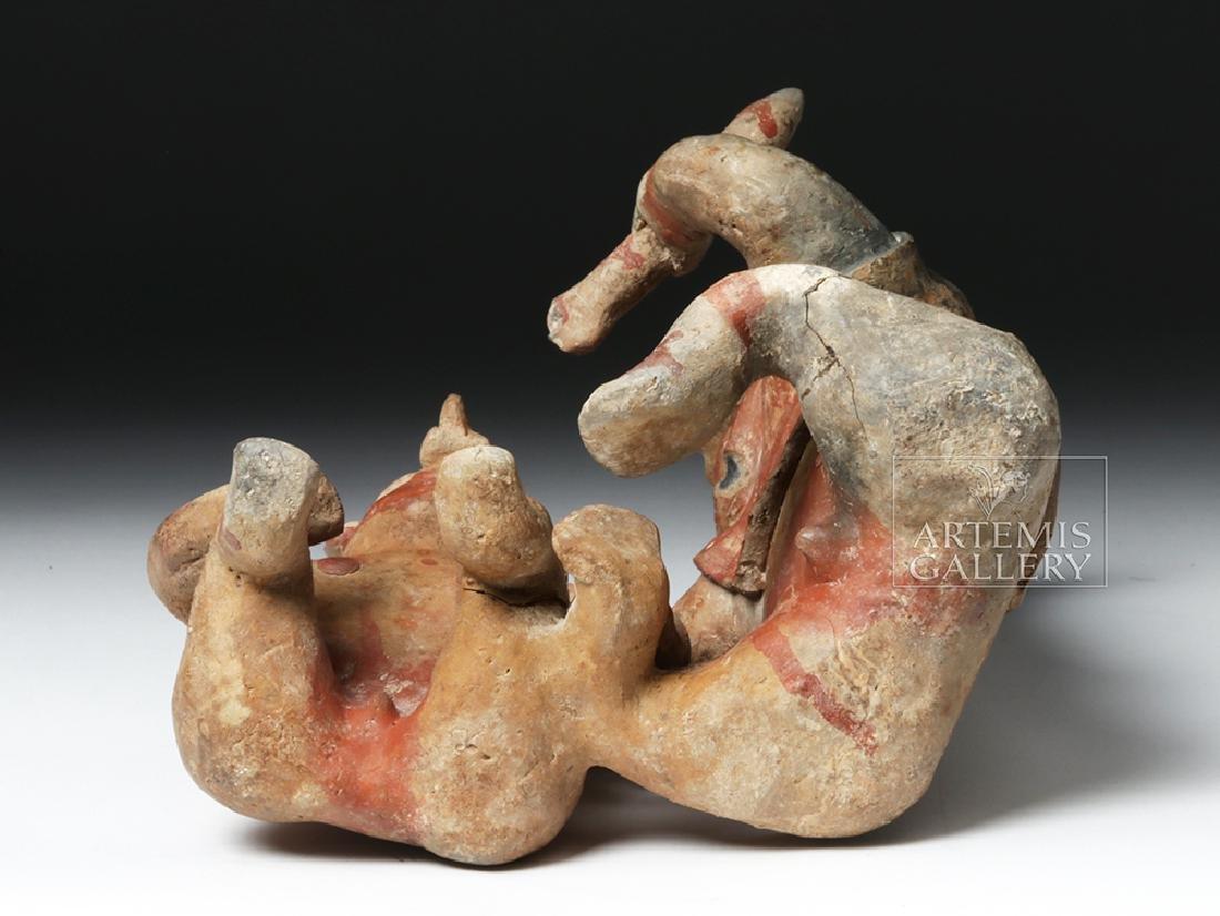 Rare Jalisco Pottery Warrior w/ Captive - 6