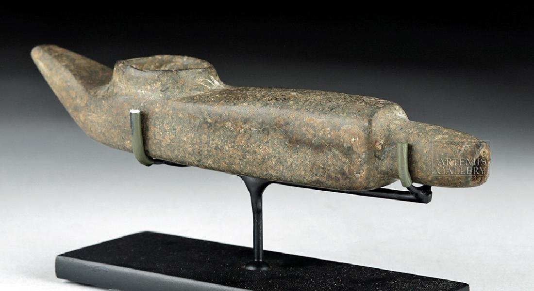 Mapuche Stone Shamanic Pipe, Ex-Butterfield's (Bonhams)