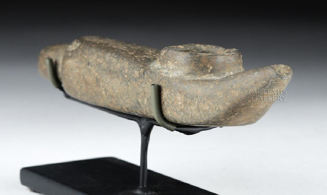 Mapuche Stone Shamanic Pipe, Ex-Butterfield's (Bonhams) - 3
