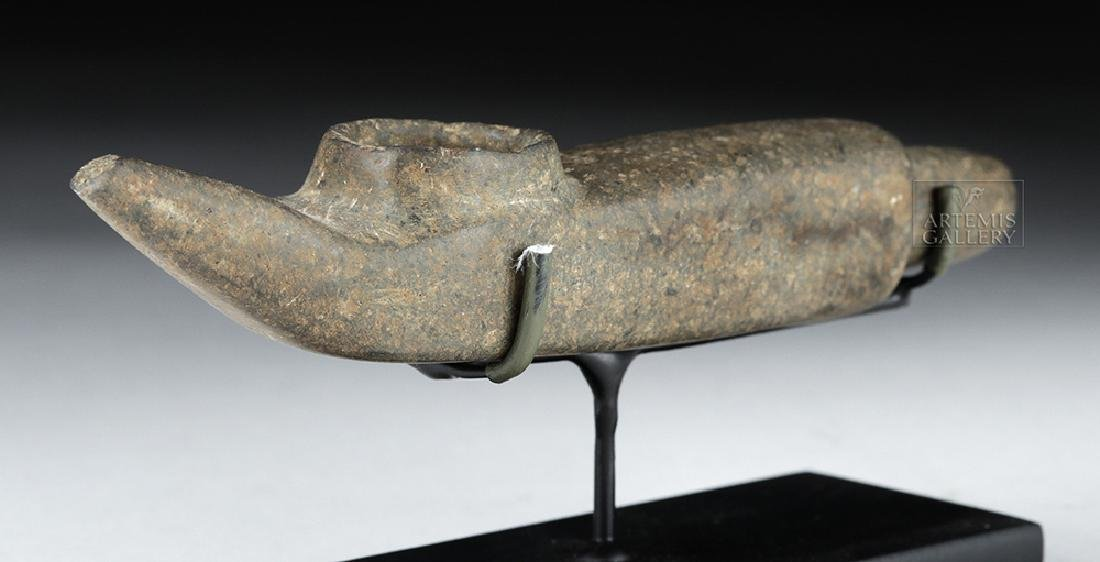 Mapuche Stone Shamanic Pipe, Ex-Butterfield's (Bonhams) - 4