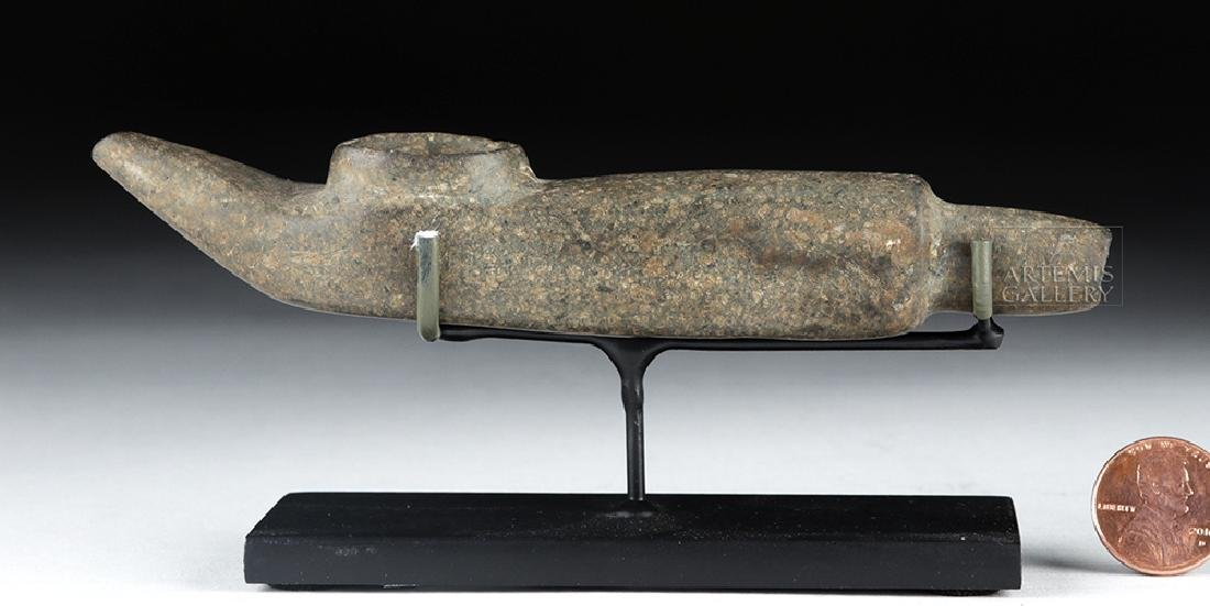 Mapuche Stone Shamanic Pipe, Ex-Butterfield's (Bonhams) - 5