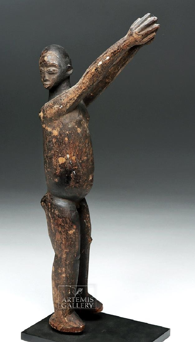 Early 20th C. African Lobi Carved Wooden Bateba Figure - 2