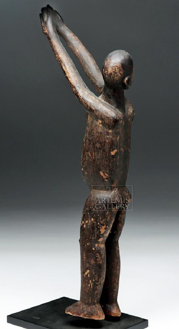 Early 20th C. African Lobi Carved Wooden Bateba Figure - 4