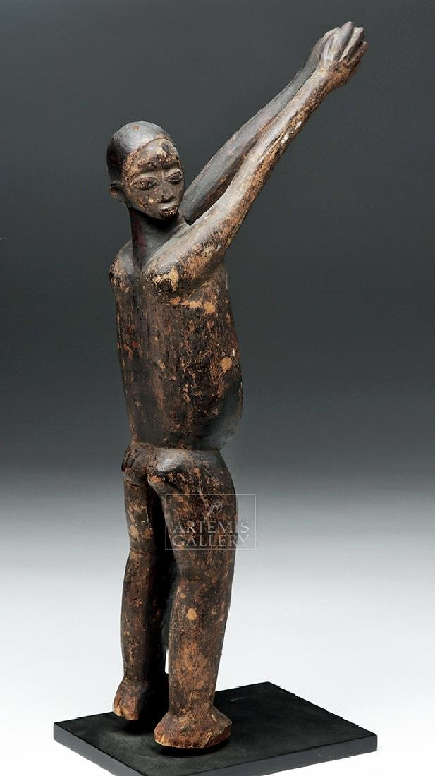 Early 20th C. African Lobi Carved Wooden Bateba Figure - 5
