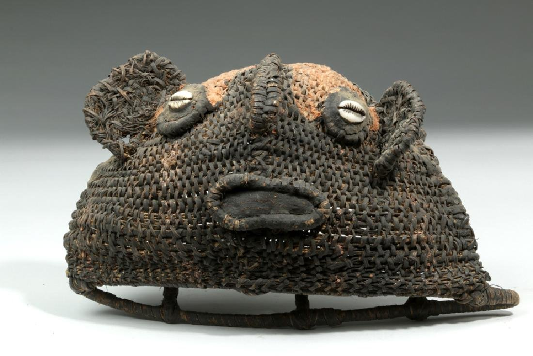 20th C. Papua New Guinea Sepik River Woven Yam Mask