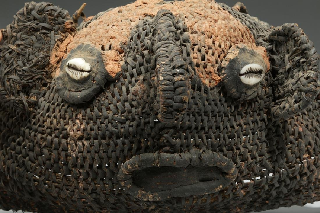 20th C. Papua New Guinea Sepik River Woven Yam Mask - 4