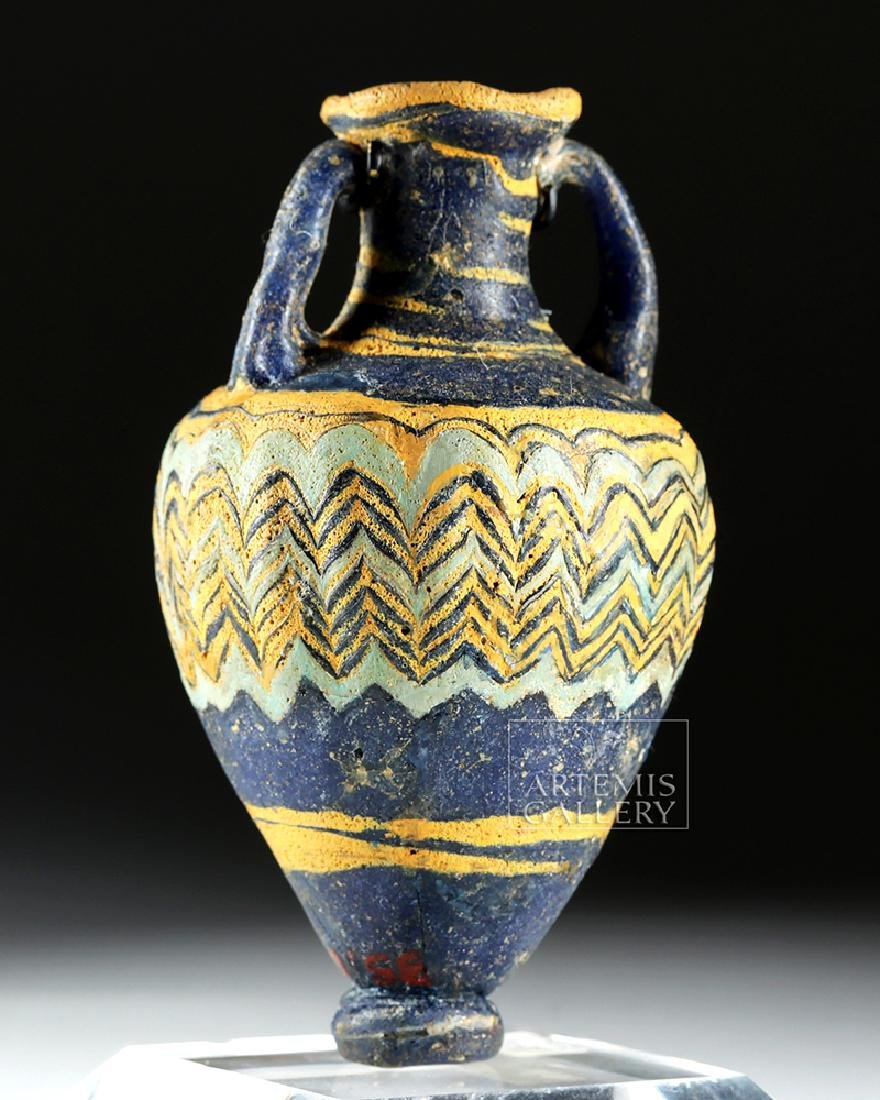 Ancient Greek Core-Form Glass Amphoriskos - 2