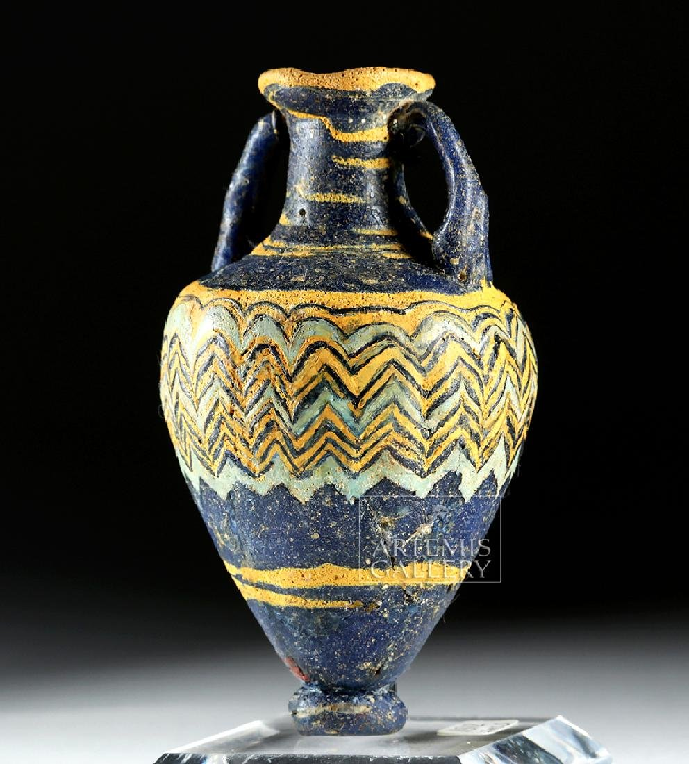 Ancient Greek Core-Form Glass Amphoriskos - 3