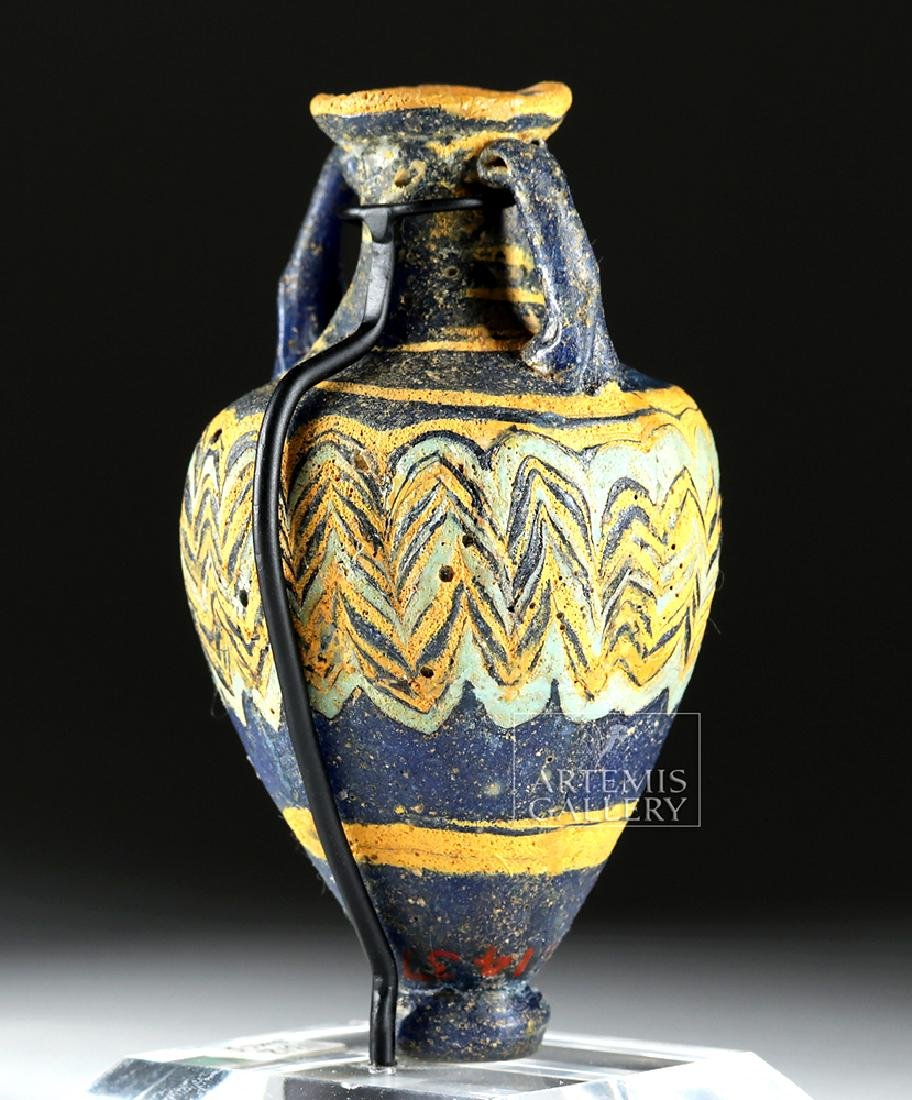 Ancient Greek Core-Form Glass Amphoriskos - 5
