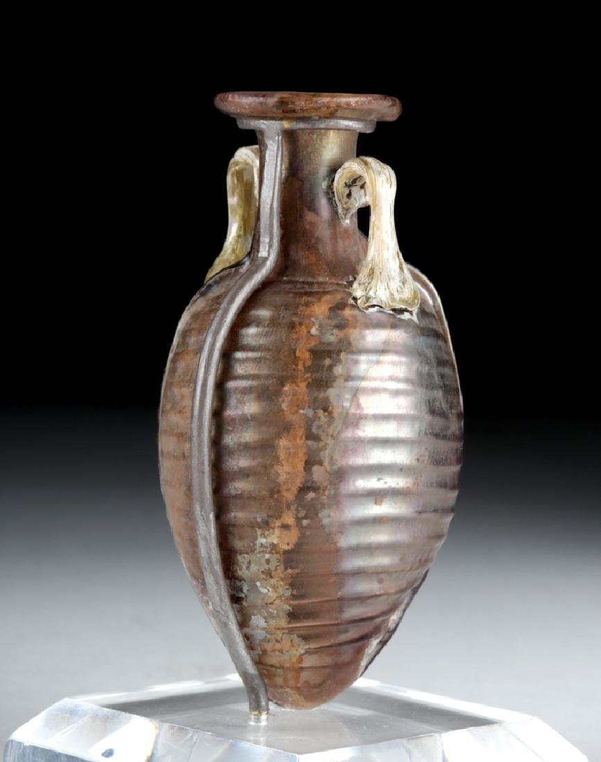 Choice Roman Sidonian Glass Amphoriskos, Ex-Christie's - 3