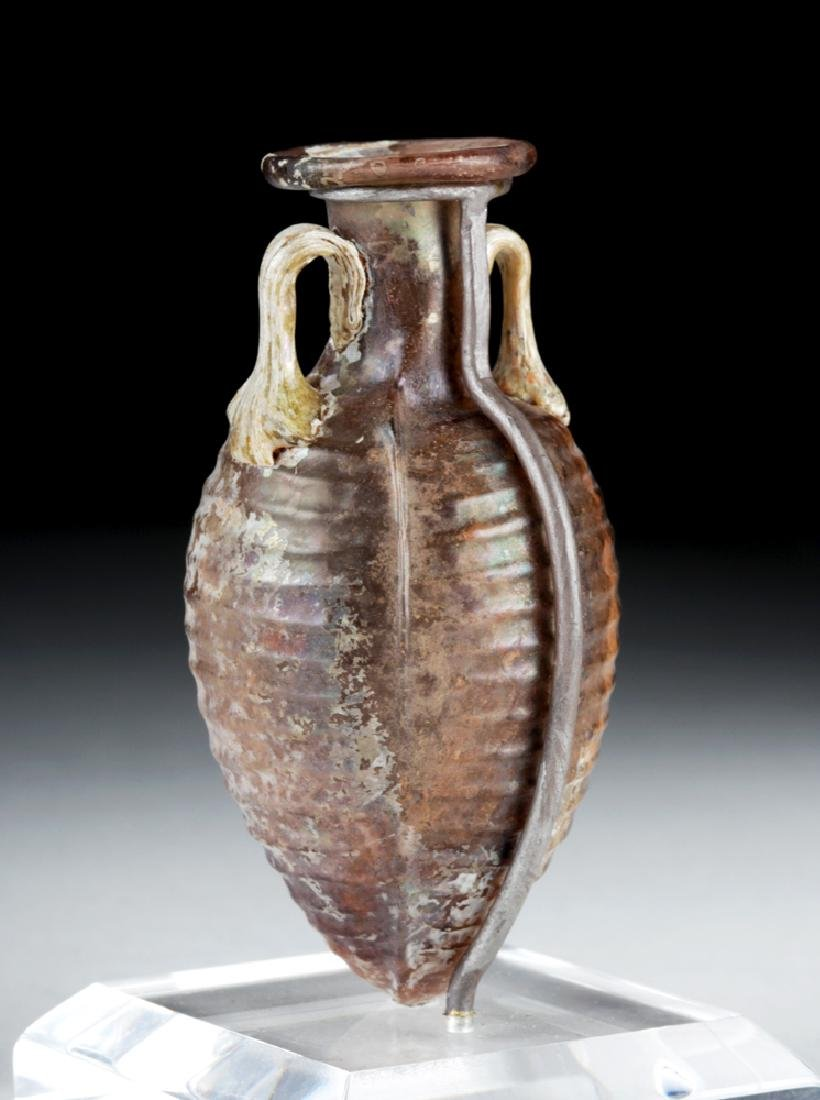 Choice Roman Sidonian Glass Amphoriskos, Ex-Christie's - 4