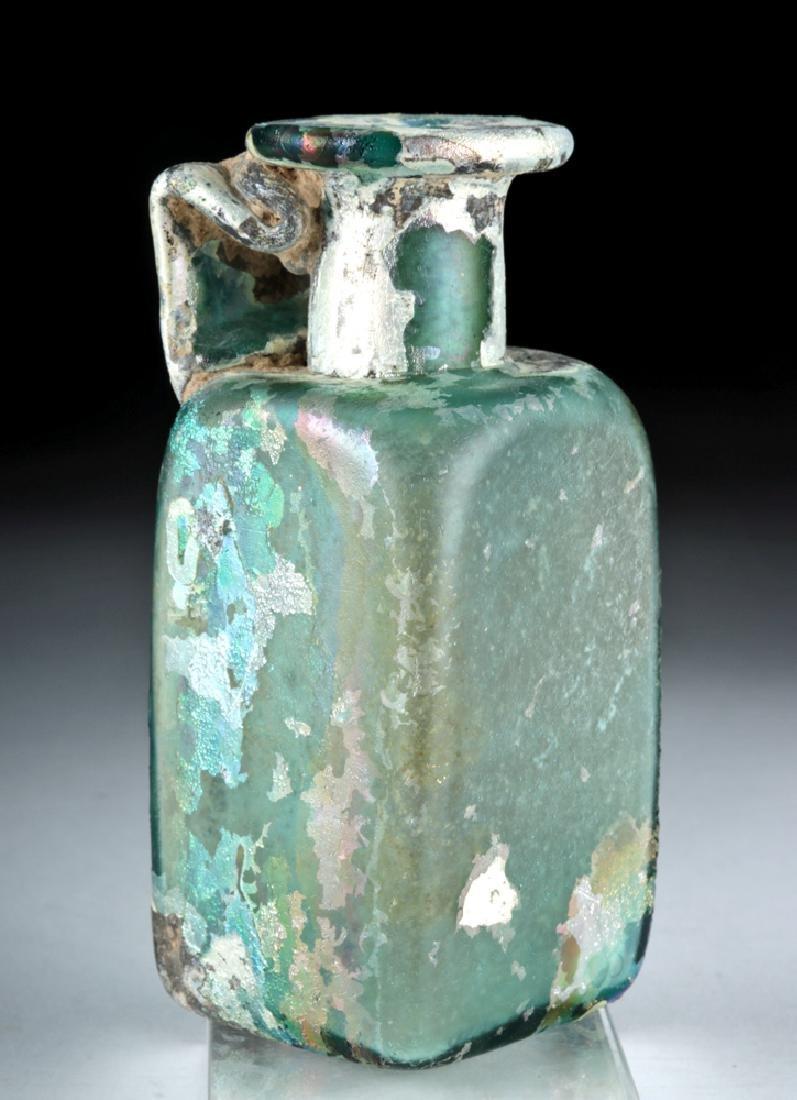 Stunning Roman Glass Rectangular Bottle