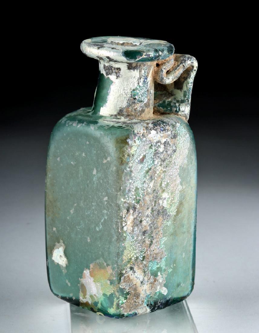 Stunning Roman Glass Rectangular Bottle - 2