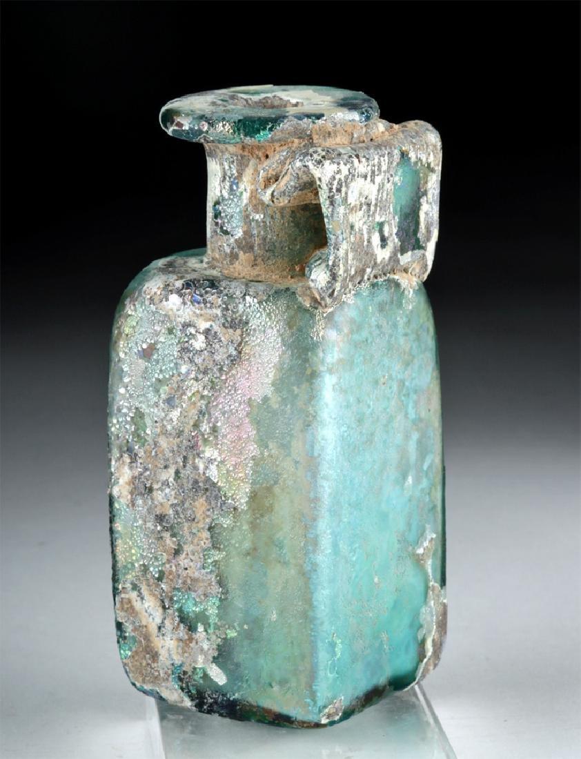 Stunning Roman Glass Rectangular Bottle - 3