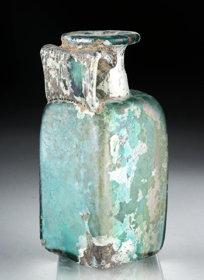 Stunning Roman Glass Rectangular Bottle - 4
