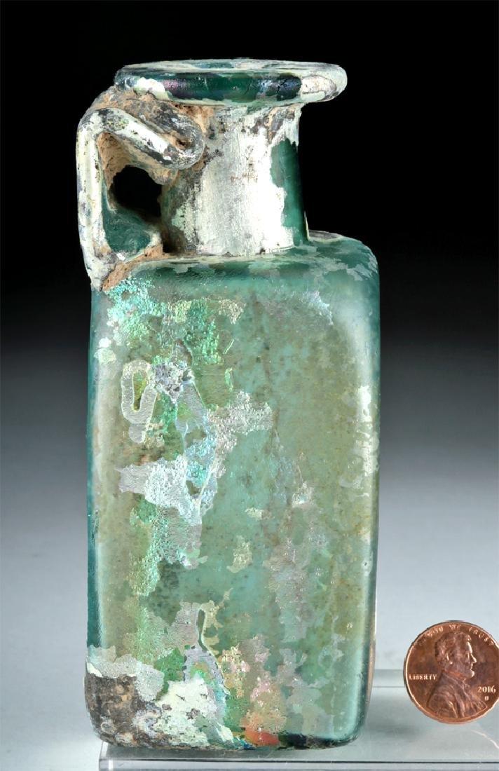 Stunning Roman Glass Rectangular Bottle - 5