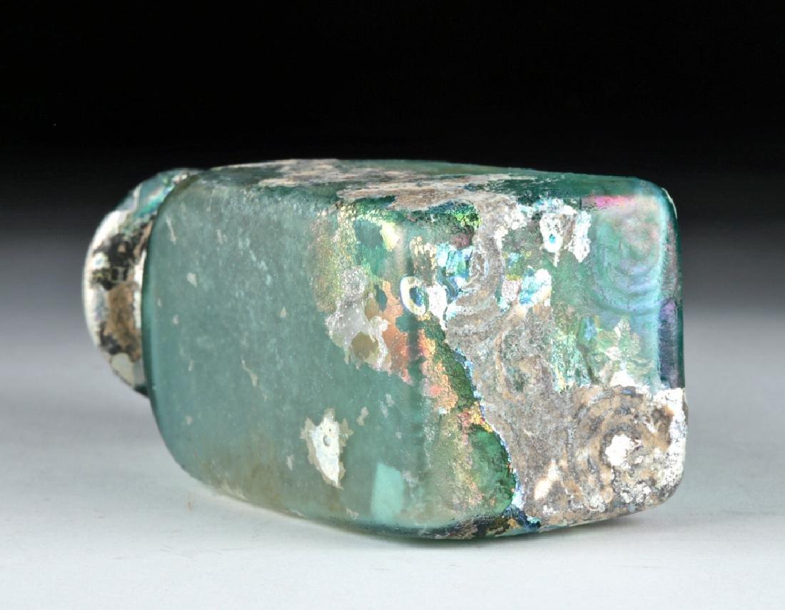 Stunning Roman Glass Rectangular Bottle - 7